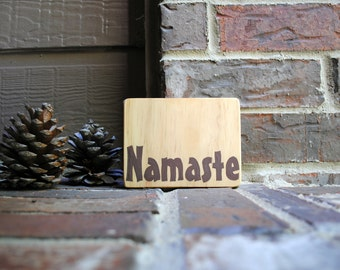 Namaste Painted Reclaimed Wood Sign