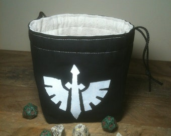 Wing and Sword Dice Bag