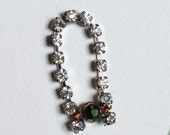 Tiny rhinestone necklace - dollhouse size