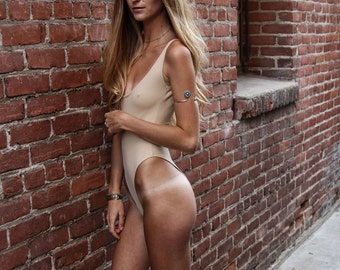Circe Nude High Hip Thong One Piece Swimsuit