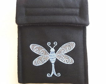 kindle case  pouch sleeve Embroidered dragonfly (sale item)
