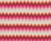 Stripe Fabric by the Yard Pointed Lace in Sunrise Tula Pink Fox Field Free Spirit Cotton Fabric One Yard