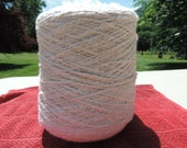 Thick And Thin Organic Natural Undyed Cotton Core Spun Yarn Aprox 3000 Meters Or 3280 Or Slightly Less Yards Knit Spin Weave