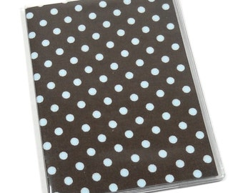 SALE Passport Cover Blue Polka Dots