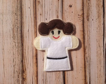 Princess Leia Inspired Finger Puppet