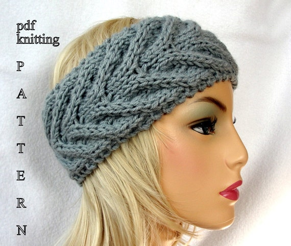 Knitting Pattern Headband Ear Warmer : Knit Ear Warmer Pattern Knit Headband pattern Knit Staghorn