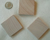 "22 WOOD SQUARE Pieces 1"" 1/2"" x  3/16""  thick Unfinished, Wooden, Crafting, Wedding, Gift, , Western,  Prim, Folk, Rustic, Cottage"