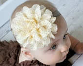 50% OFF Entire Shop - Baby Headband - Infant Headband - Shabby Headband - Girl - Infant - Toddler