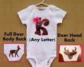 Camouflage Personalized Onesie for Girl - Baby Girl Clothes - Outdoorsman Hunter Deer