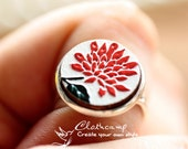 20% off -Unique  3D Embossed Flower 16mm Round Handmade Wood Cut Cabochon to make Rings, Earrings, Bobby pin,Necklaces, Bracelets-(WG-3)