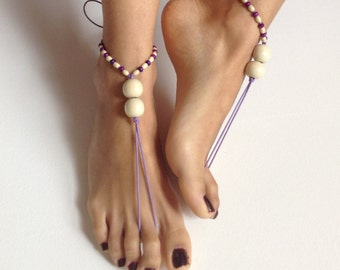 Barefoot Sandals, wedding , Bikini , Women , Beach , Bridal Sandals , Bridal Jewelry ,shoes