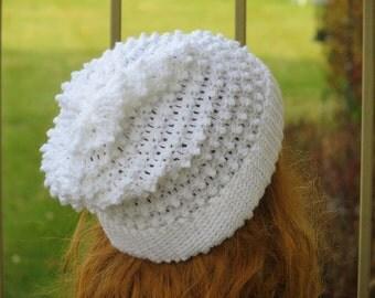 Crochet Slouchy Hat Pattern, Woman's Slouchy Hat Pattern,  Slouchy Beanie Crochet Pattern, Claudia Slouch Hat