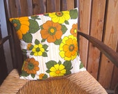 Vintage fabric cushion or pillow cover, 1960s, handmade, pillow, cushion