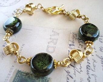 Gold Celtic Knot Bracelet Free Shipping