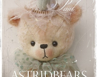 teddy bear pattern Paul by ASTRIDBEARS - PDF epattern Instant Download stuffed teddy digital