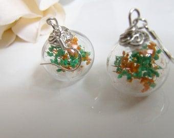 Baby's Breath Flower Earrings in Hand Blown Glass Beads, Gift for Women, Sister, Mom, Jewelry for Women