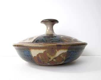 Robert Sperry Studio Pottery - Lidded Bowl / Casserole / Vessel / Vase - Mid-Century Modernist Ceramic Art Ceramics