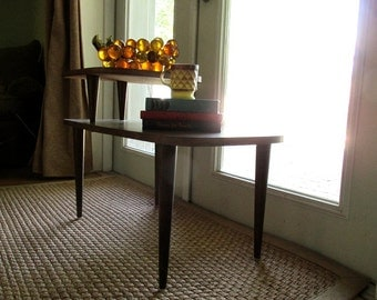 Mid-Century Tiered Telephone Side Table