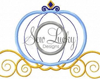 Princess Carriage Applique Design  - Carriage - Princess - Fairytale - Coach - INSTANT DOWNLOAD