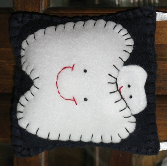 Navy Blue Tooth Fairy Pillow
