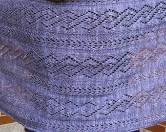 Knit Shawl Pattern:  The Netherlands Knit Wrap Knitting Pattern