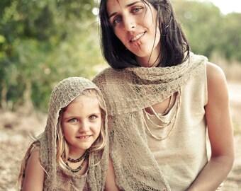 Knitted Hemp/Linen scarf