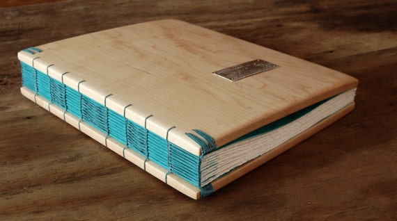 elegant maple wood guest book - rustic wedding custom handmade spring winter fall summer graduation retirement recipe memory - made to order