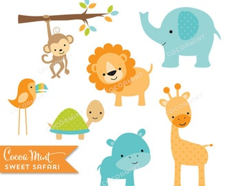 Sweet Safari Clip Art