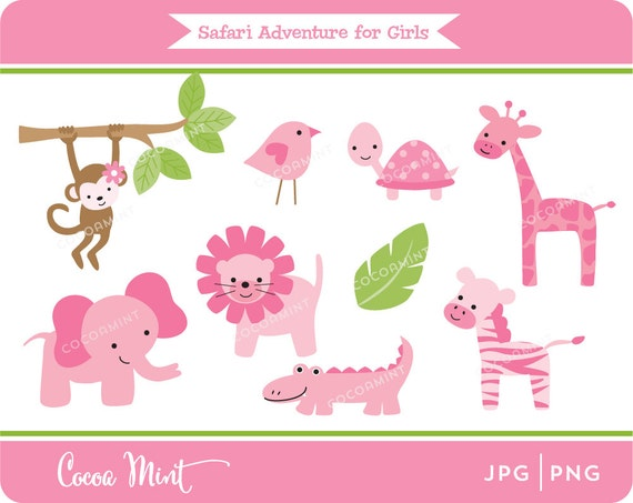 Safari Adventure for Girls Clip Art