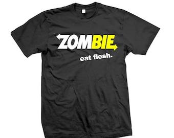 Zombie Eat Flesh T-Shirt ( S - 5XL )