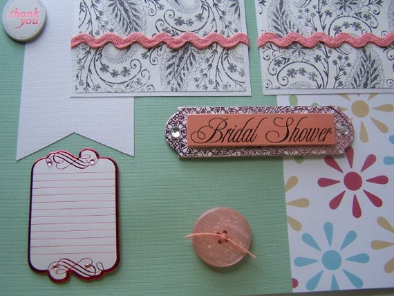 Items Similar To Wedding Shower Bridal Shower Scrapbook Layouts Bride And G