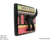Leash Holder - Single Tail -  Where's the Fire - Personalize with Optional Letter Tiles