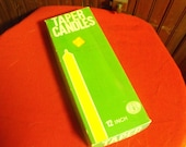 """Vintage Taper Candles Made in Hong Kong 12"""" Gambles Import Corp 11 Candles"""