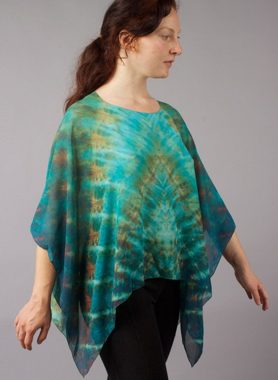 Michael Smith Shibori Silk Poncho