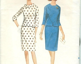 Butterick 4141 60s Semi Fitted Ladies Skirt Suit