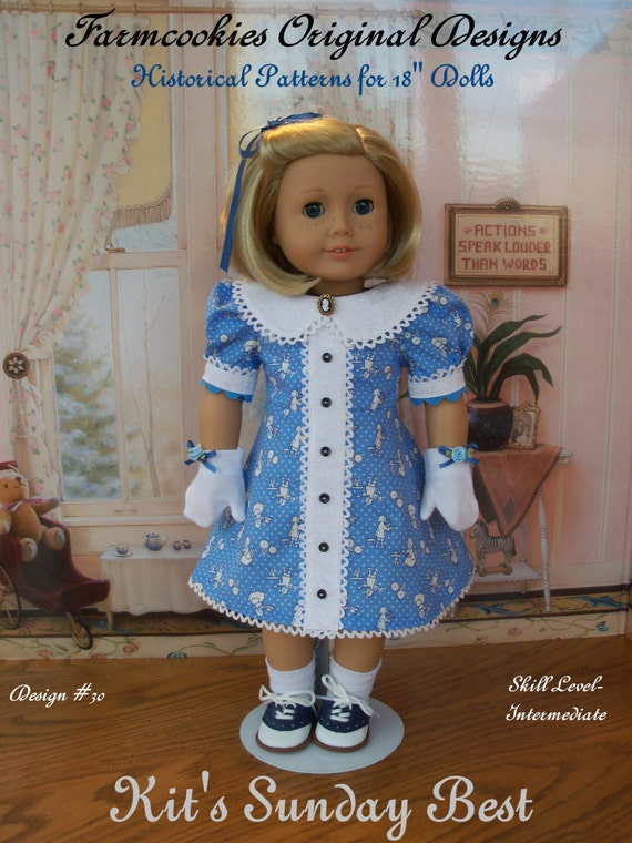 PDF Sewing PATTERN / Kit's Sunday Best by Farmcookies  / Clothes Fit Like American Girl Doll Clothes Pattern