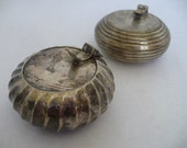 Pair of silver personal ashtrays made in India