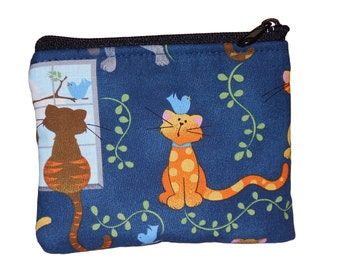 Cats Print Coin Bag