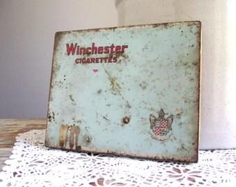 Winchester Cigarette Tin , Flat 50 Tin , Collectible Advertising Tobacco Tin , Imperial Tobacco Co Canada , Vintage Tin