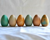 Waldorf Inspired Rustic Spring Wood Eggs (set of 6)