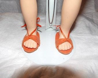 Sandals in bright orange for 18 inch Dolls - aga2