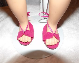 Sandals in bright pink for 18 inch Dolls - aga7