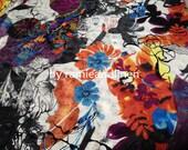 "Silk fabric, 24m/m heavy silk printed jacquard silk fabric, dress fabric, half yard by 56"" wide"