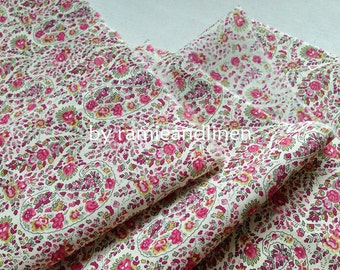 "liberty cotton floral print fabric,  printed in Japan, half yard by 43"" wide"