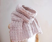 Chunky Lace Scarf