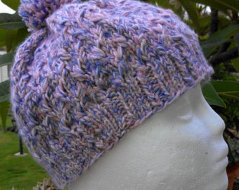 PDF Download Knitting Pattern for the Twisted Trails EZ Cable Hat