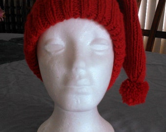 PDF Download Knitting Pattern for the Ribbed Cuffed Stocking Hat - Fits Adults and Children