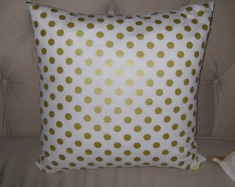 Anthropologie inspired 24x24 White with metalic gold dots, available in other sizes