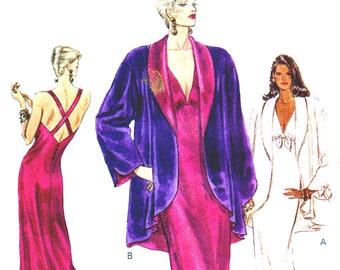 Vintage 1990s Evening Gown Pattern Uncut Vogue 9725 Jacket Size XS S M
