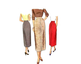 Vintage 1940s Skirt Pattern Size 24  Waist  McCalls 7930 Wiggle Pencil